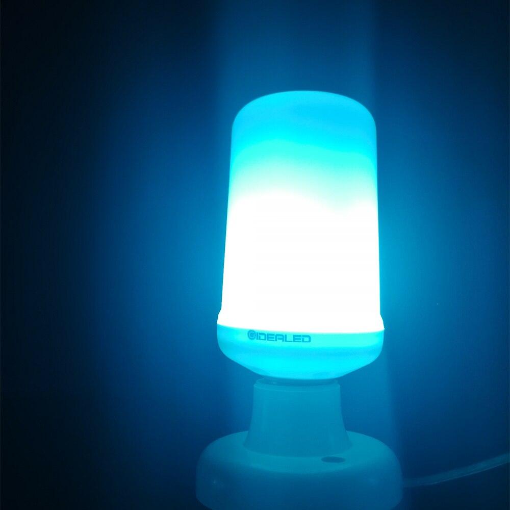 E27 LED bulb Dynamic Flame Effect LED Corn lamp with blue Dynamic Emulation Fire Burning Flicker Bulb light E26 LED Bulb Lamp