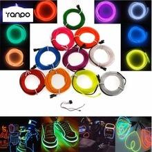 Imperméable à leau 3 M néon El fil 10 couleurs Flexible corde bande LED tube grandir lumières + 12 V voiture contrôleur partie décoration mariage