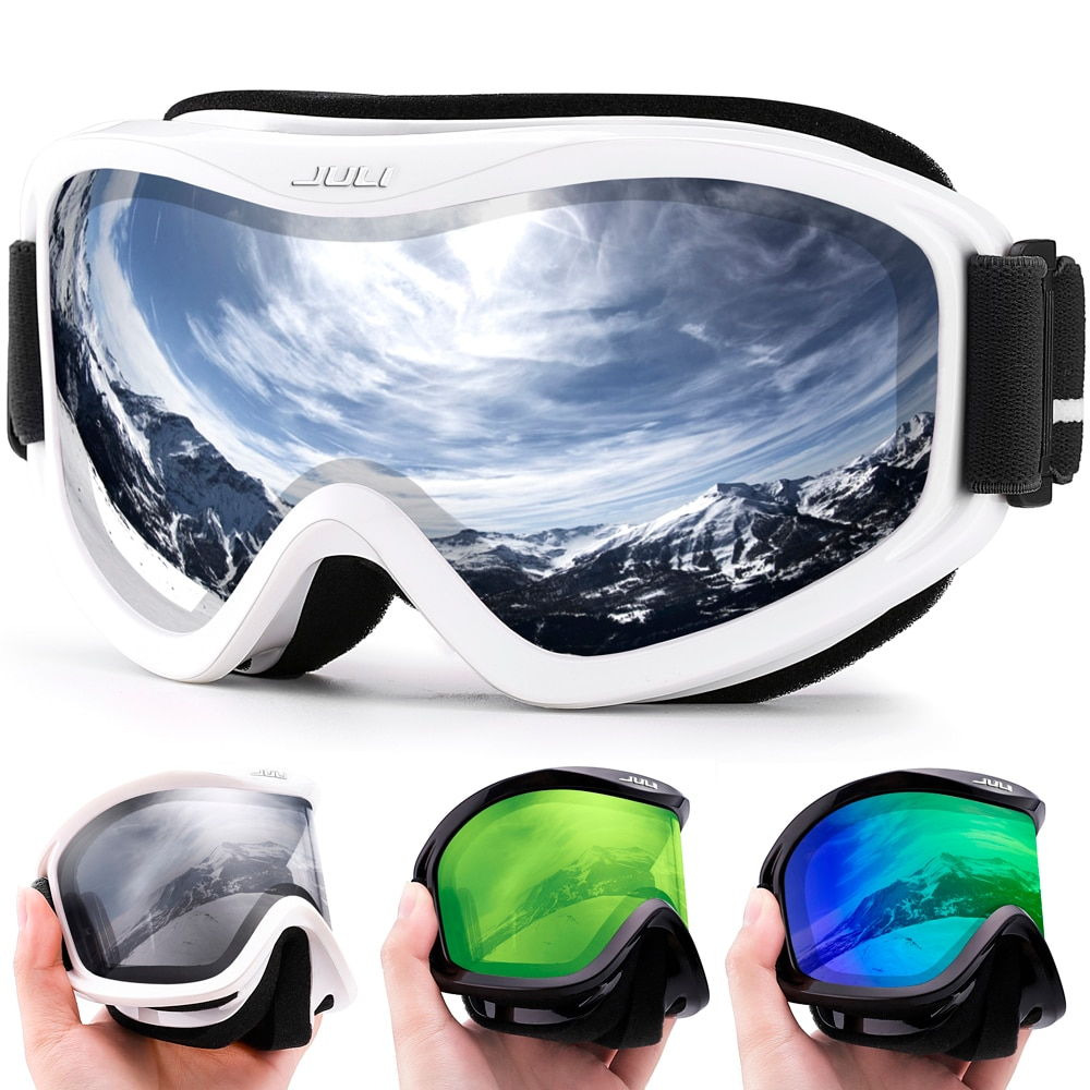 MAXJULI-نظارات تزلج احترافية للرجال والنساء ، عدسات مزدوجة الطبقات ، مضاد للضباب ، UV400