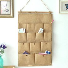 Antique Letter Bag Wall Door Hanging Storage Bag Pocket Organizer Pouch Storage Basket For Toys Sundries Bag Home Decor