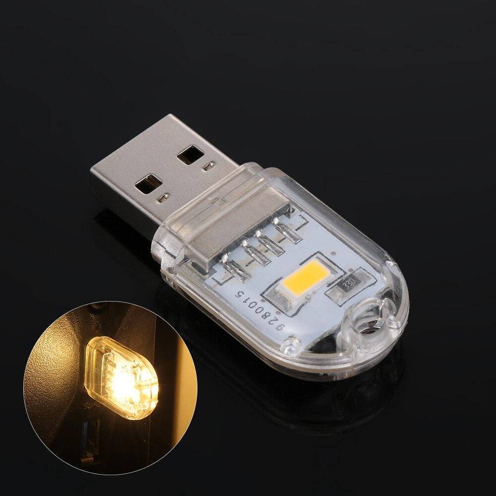 1 minilámpara USB LED de luz nocturna, llavero de lectura, lámpara Led, bombilla de libro para Notebook, Banco de energía, ordenador, portátil, Bombilla de Camping