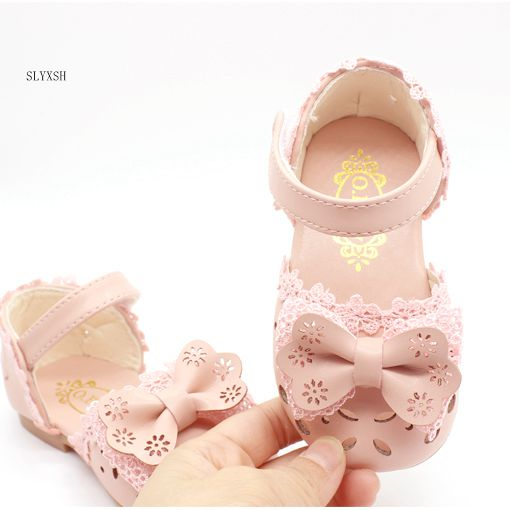 SLYXSH Girls Sandals 2019 New Flat Beach shoes Korean Girls Summer Girls Child Princess Shoes