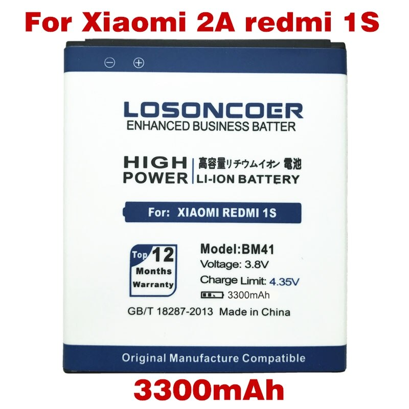 """LOSONCOER 3300 mAh BM40/BM41 BM44 batería para Xiaomi 2A Mi2A/Xiaomi Hongmi arroz rojo 1 S 4,7 """"/Redmi 2 Batería"""