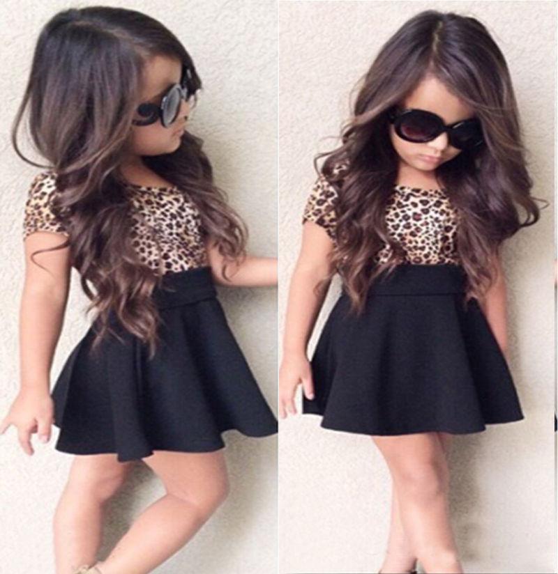 Girls Dresses 2017 Brand Spring Summer Princess Dress Kids Clothes Leopard Print Design for Baby Girls Clothes