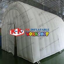 Tente dexposition gonflable de chapiteau géant de tunnel blanc de 4x5m pour lévénement extérieur