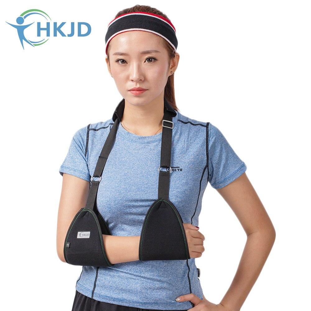 HKJD, cinturón de hombro ajustable transpirable para brazo médico, fractura de clavícula eslinga para, soporte de cirugía, dislocación de brazo roto