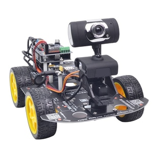 EU Programmable Robot DIY Wifi + Bluetooth With Graphic Programming XR BLOCK Linux For Arduino R3(Standard/Avoidance  Version)