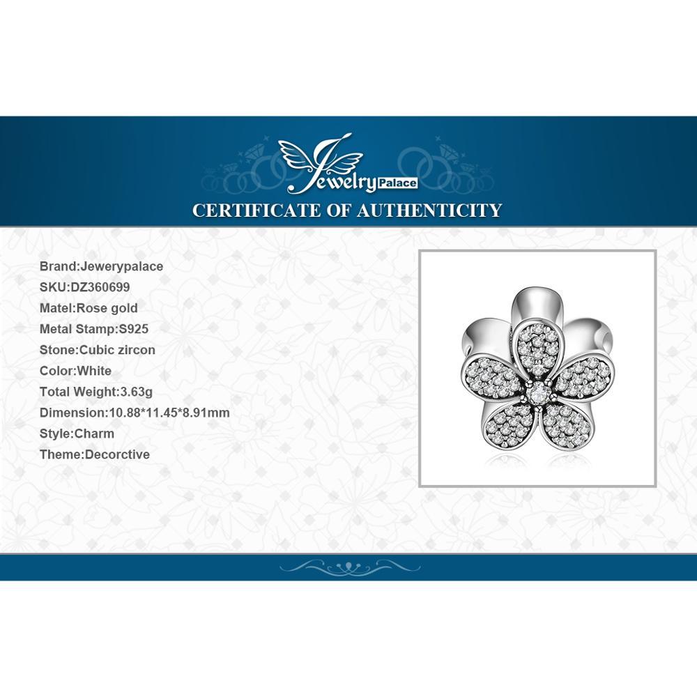 Купить с кэшбэком JewelryPalace Daisy Flower 925 Sterling Silver Beads Charms Silver 925 Original For Bracelet Silver 925 original Jewelry Making