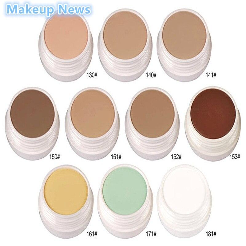 Nuevo maquillaje marca profesional de maquillaje cosméticos de contorno paleta de maquillaje 10 colores Base corrector facial Base maquillaje cremoso 1 unidad