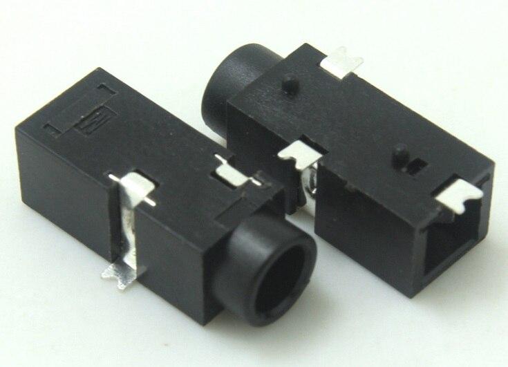 1000 قطع ضياء 3.5 ملليمتر 3pin smd نوع بنفايات ستيريو الهاتف جاك جاك ل 3.5 ملليمتر 3 القطب التوصيل جديد شحن مجاني