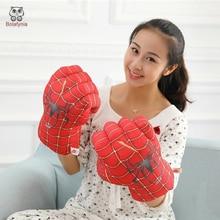 BOLAFYNIA jouets en peluche créatifs un gant Spiderman gants de boxe enfants adulte Hulk cadeau danniversaire