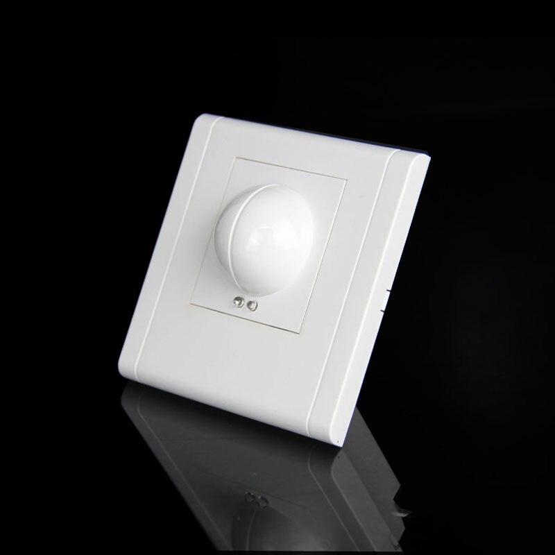 Free shopping 220/AC-240V/AC 360 graus Interruptor de Luz Sensor de Indução de Microondas Microondas motion Sensor 86 motion sensor interruptor