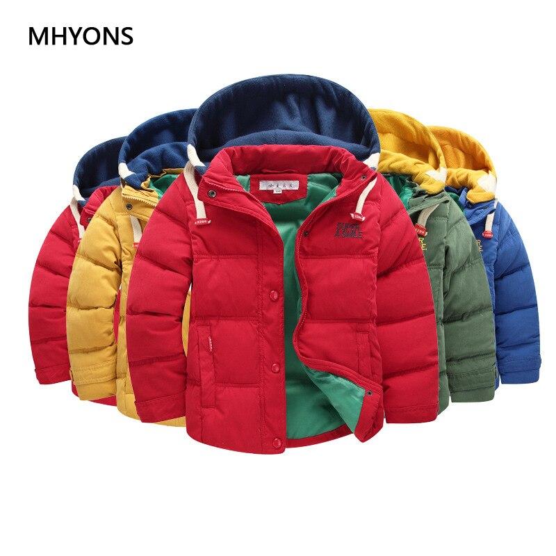 2019 niños chaqueta cálida 6-14T invierno niños prendas de abrigo Casual chaqueta con capucha para niños ropa impermeable los niños abrigos