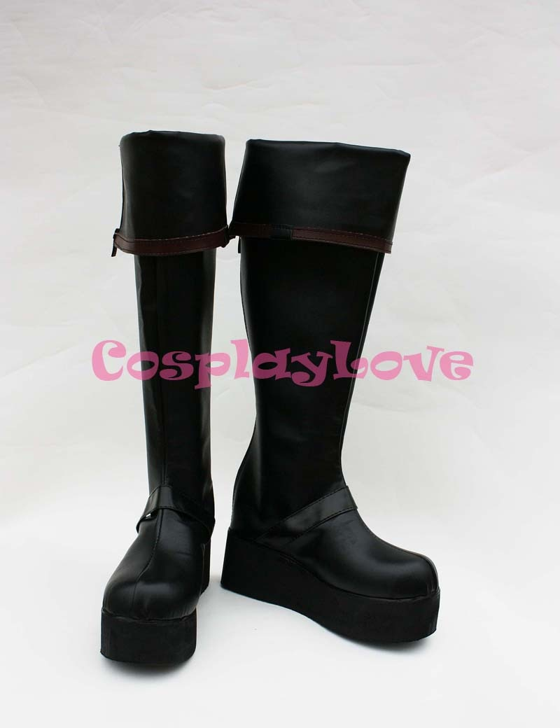 D. Серая мужская обувь для костюмированной вечеринки, 3th Yu Kanda длинные ботинки ручная работа, на заказ, для Хэллоуина, Рождества, CosplayLove