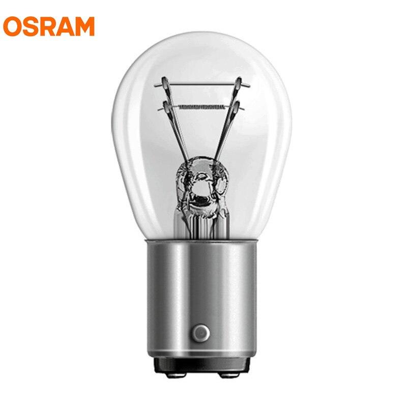 10pcs OSRAM 7225 P21/4W BAZ15d 12V S25 Linha Original de Metal Bases Turn Signal Lâmpadas De Freio lâmpada Halógena luz Do Carro OEM Alemanha OEM