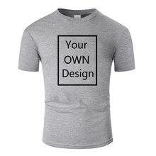 Men T Shirt Short Sleeve White Black Red Grey Women Cotton Print Tee Tops Custom Your Brand Logo Picture