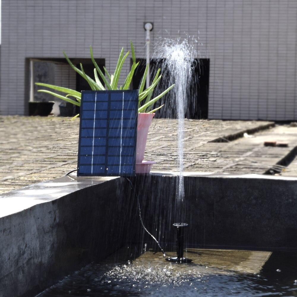 Solar-Powered Water Pump Kit 8V 1.8W Solar Panel Water Floating Solar Powered Fountain for Bird Bath Pond Garden Water Pump