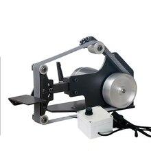 220V Desktop Belt Sander DIY Woodworking Polishing Machine 0-7500RPM 762x25MM or 762x35MM Belt Machine Y