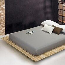 Drap housse de literie de 59 couleurs solides   Ponçage, draps de lit avec bande élastique, drap Double reine, 180 x 200cm