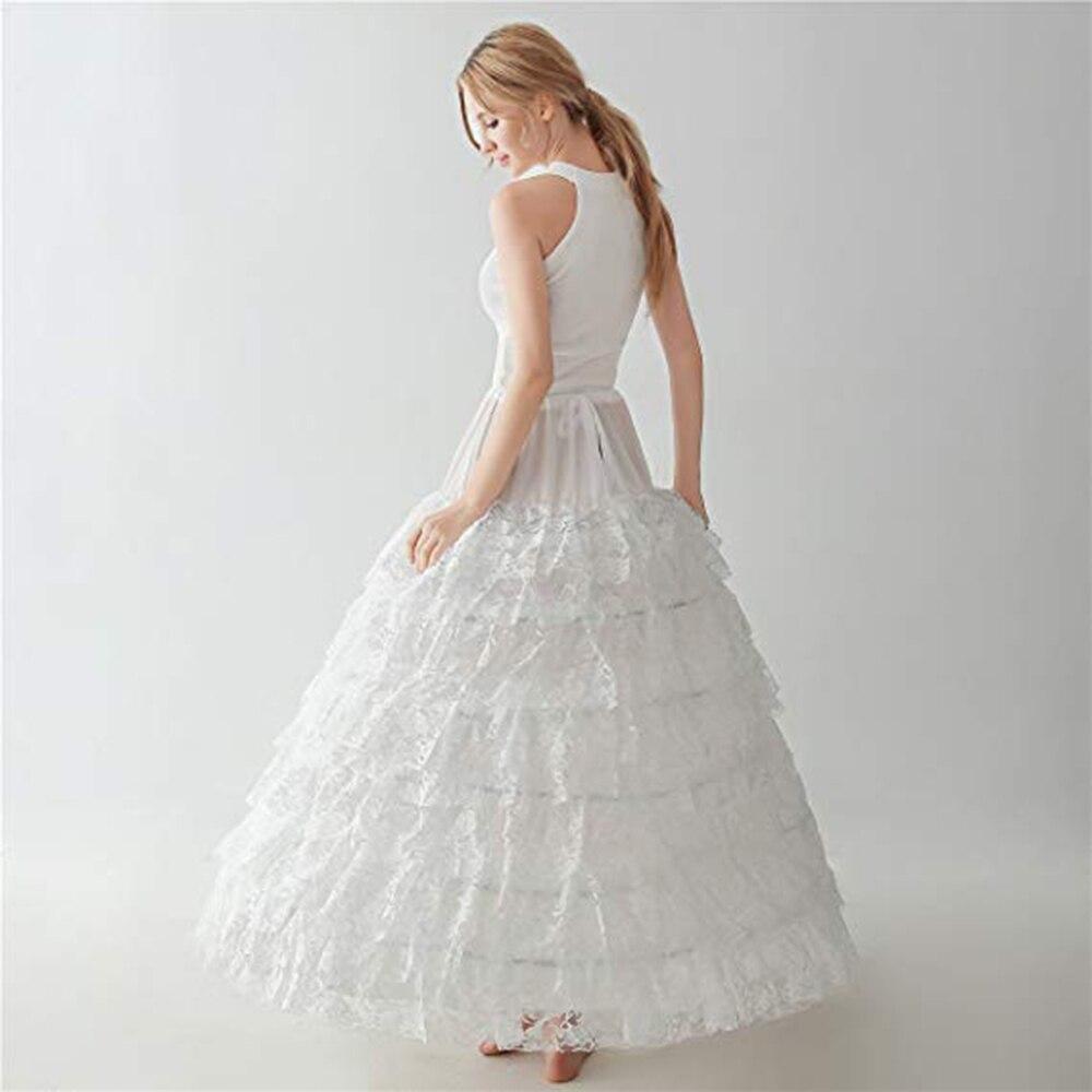 2019 Women Ball Gown Lace Petticoat Crinoline Slip 9-Layer 6 Hoops Skirt Underskirt For Wedding Dress Bridal Gown