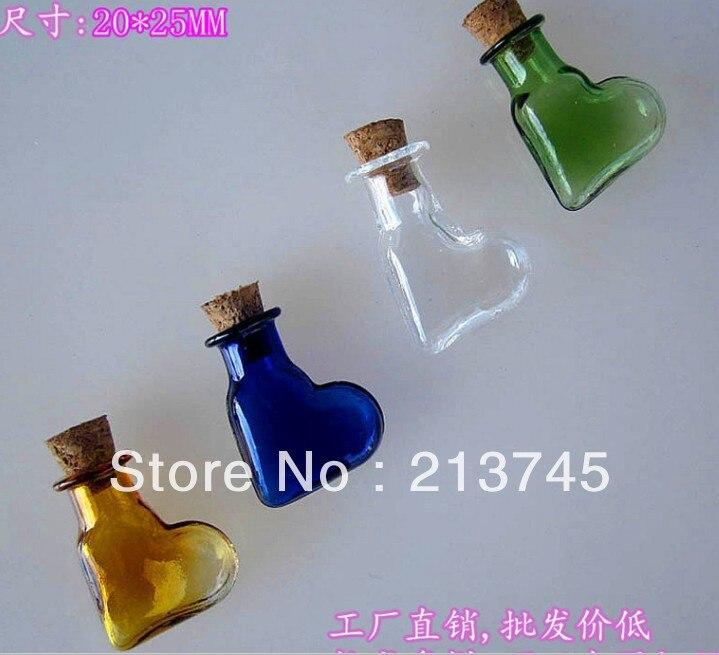 Los accesorios del teléfono móvil oblicuo amor colgante botella de los deseos de vidrio colgante de frasco/colgante miniatura/botella de vidrio/tubo de deseo