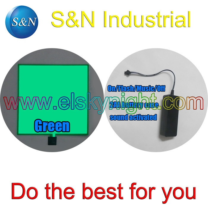 2AA 3VDC painel el som ativado el folha de Grama verde (10X10 cm) + frete grátis