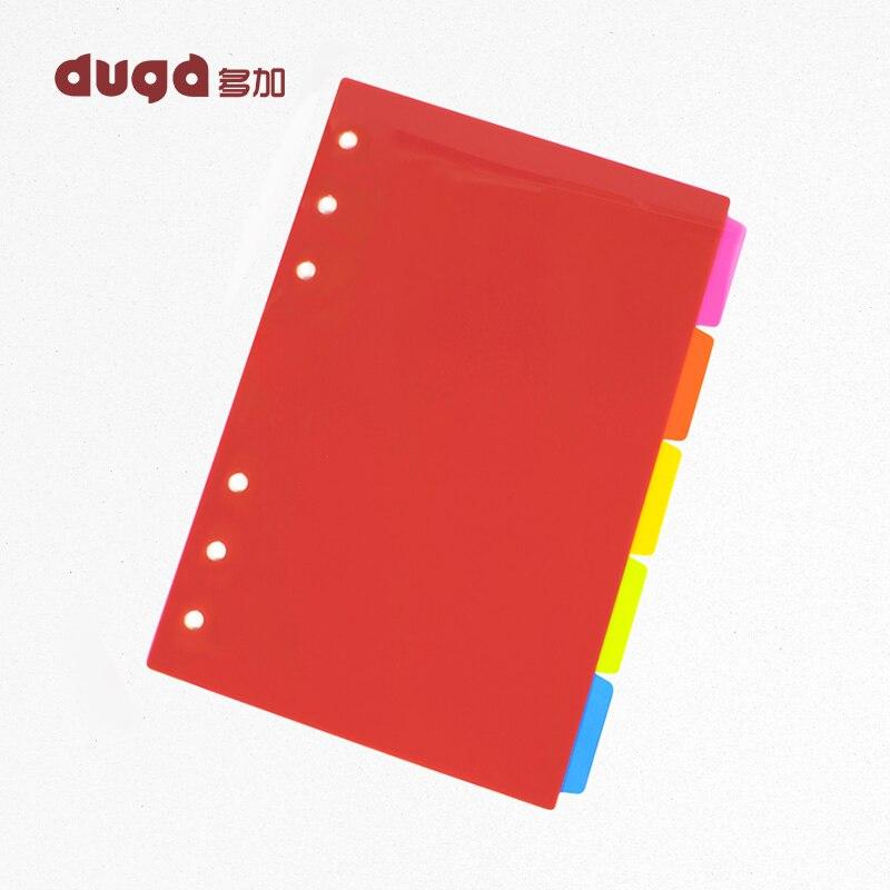 Alta calidad PP A5 página de índice de libro suelta hoja cuaderno recuento de mano Color Índice Página paginación