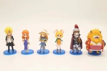 Anime 6pcs/set One Piece WCF ZO Series Sanji Wanda Carrot Inuarashi Nekomamushi Nami PVC Figures Toys Dolls Model