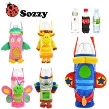 Sozzy-bolsas con asa para botella de agua para niños, alimentador de dibujos animados, Huggers para botella de bebé, funda para botella de alimentación infantil
