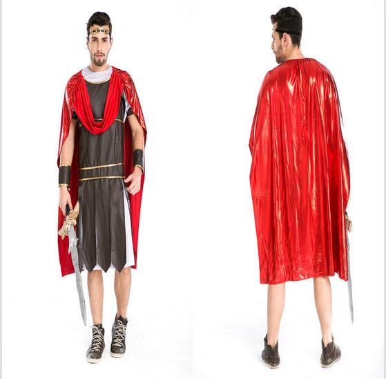 Nuevos trajes de guerreros para hombre de Halloween, ropa de emperadores griegos, ropa de pirata, disfraz de Gladiador, Disfraces de guerreros