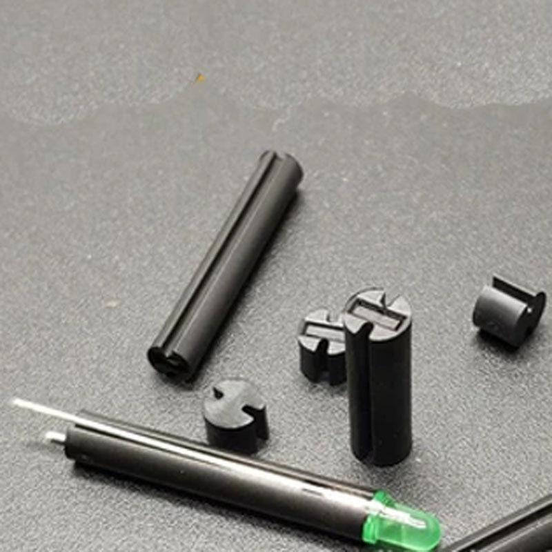 30 piezas 4mm de diámetro doble pit poste de luz 6-9,5mm negro doble ranura LED pad alto tuerca de columnas espaciadoras de columna