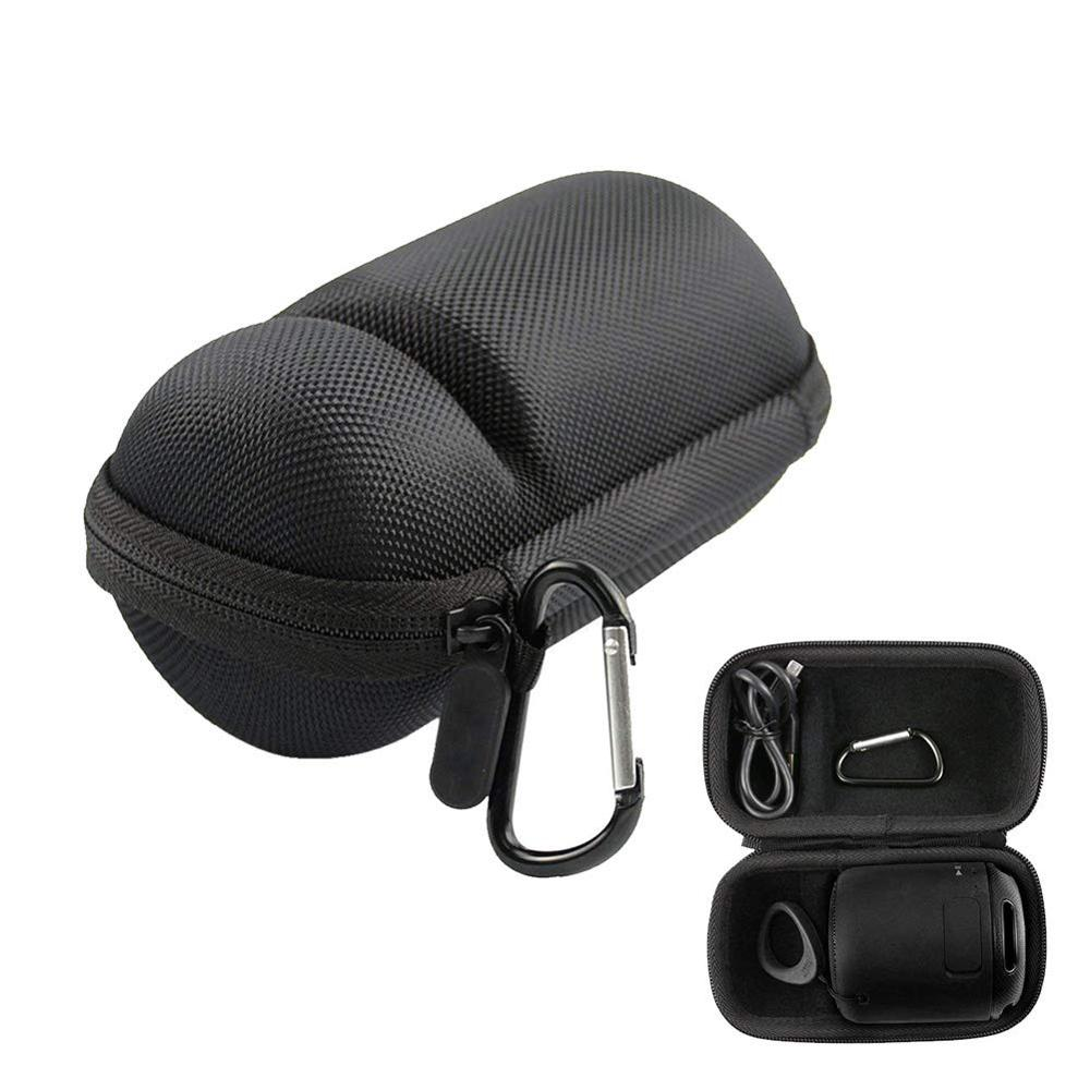 Funda de carcasa dura de goma EVA, Mini bolsa de almacenamiento portátil, funda de transporte con Clip de mochila para Altavoz Bluetooth Sony SRS-XB10 Subwoofer