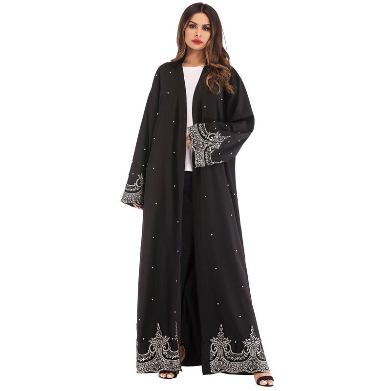 Open Muslim Abaya Dubai Hijab Dress Caftan Marocain Abayas For Women Kaftan Robe Jilbab Ramadan Elbise Turkish Islamic Clothing