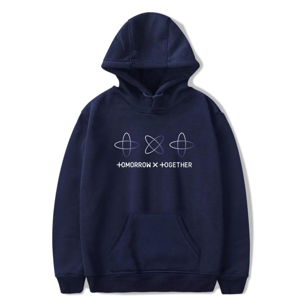 2019 nuevo grupo de Kpop TXT Hoodie TOMORROW X TOGETHER hoodies sudaderas de manga larga PRIMAVERA/otoño Hood street wear