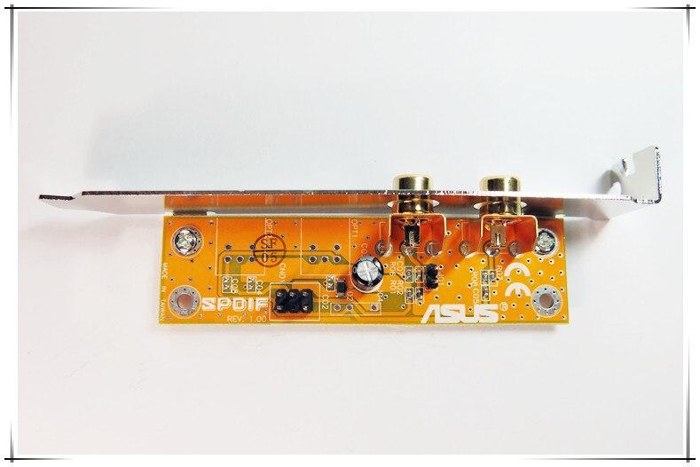 Placa base ASUS con fibra coaxial SPDIF chapada en oro, decodificador de tarjeta de sonido digital DAC fever DTS