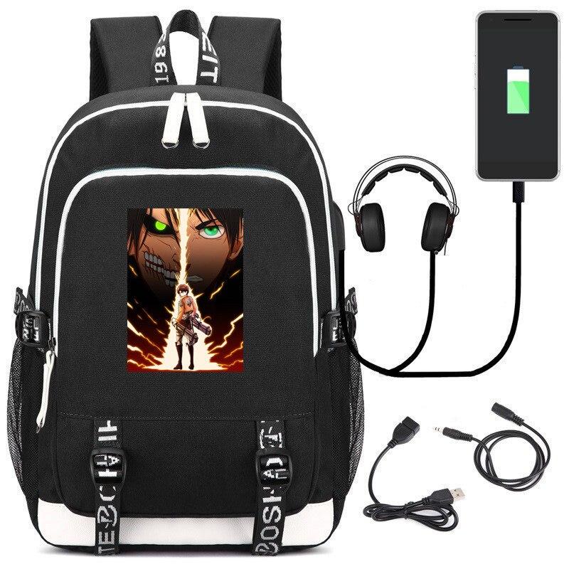 Mochila de ataque a los Titanes de Anime cómico, mochilas escolares para niños, mochilas de dibujos animados de Anime, mochila informal