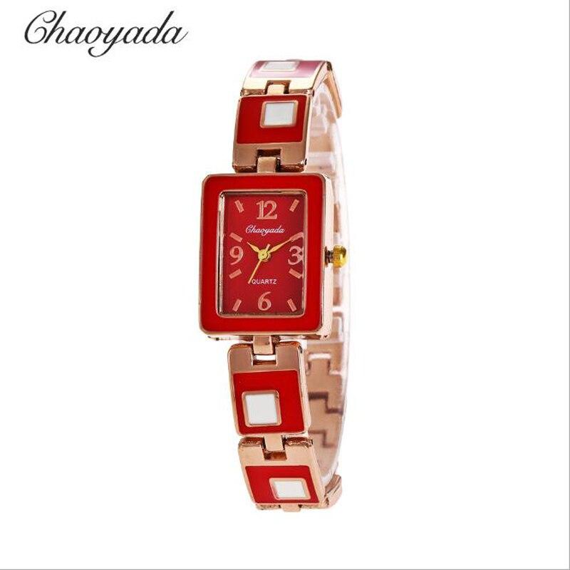 Reloj de pulsera cuadrado de cuarzo de lujo con diseño de diamante para mujer y niña, modelo 2018
