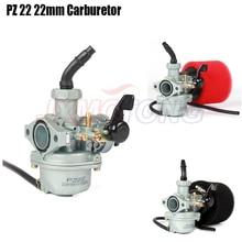 Motor pz22 22mm carburador & 38mm filtro de ar para keihin 125cc kayo apollo bosuer xmotos kandi sujeira/pit bicicletas macaco atv