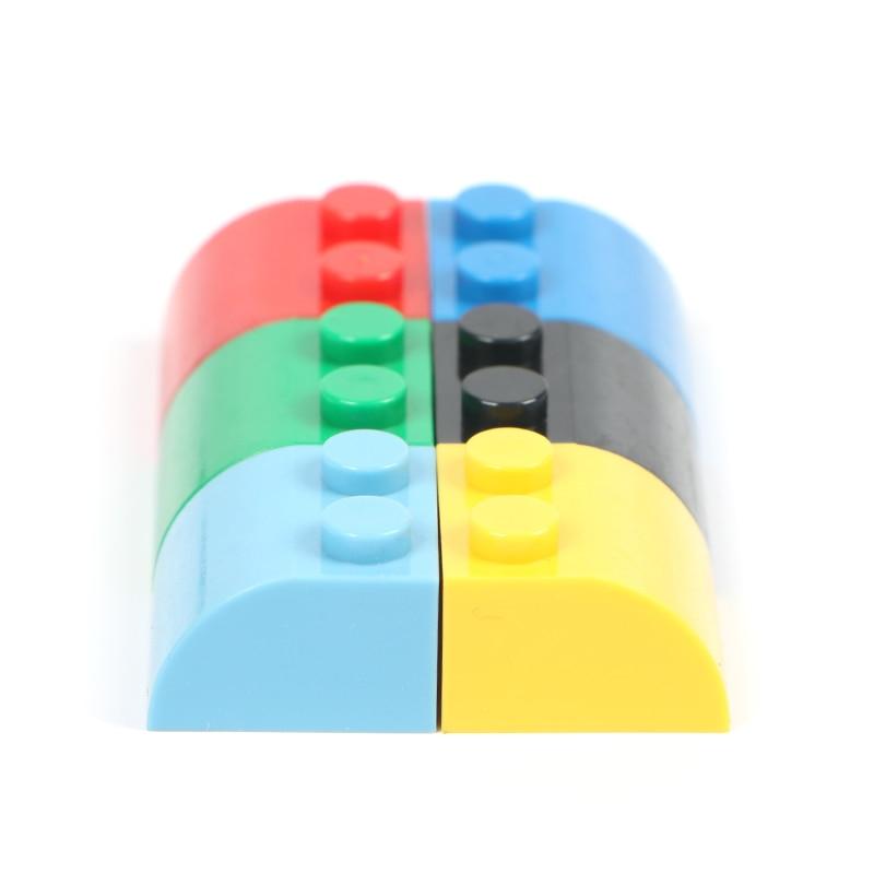 1*2 высокоточечные строительные блоки на крышу, 100 г/лот, детали для разбросанных кирпичей, объемные блоки, DIY творческие сборочные игрушки