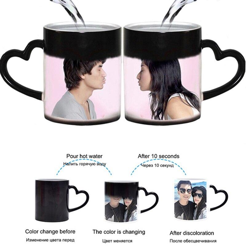 DIY Foto Magie Farbwechsel Becher kann angepasst tasse muster, nach ihr foto auf Tee tasse, kaffee Tasse beste geschenk für freunde