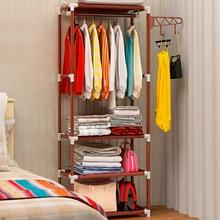 Simple DIY Assembly Coat Rack Floor Clothes Storage Hanging Hangers Rack Creative Clothing Storage Shelf Bedroom Furniture