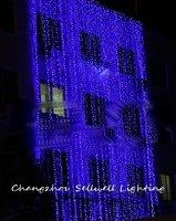 Holiday lighting courtyard festival decoration blue LED star lamp H027
