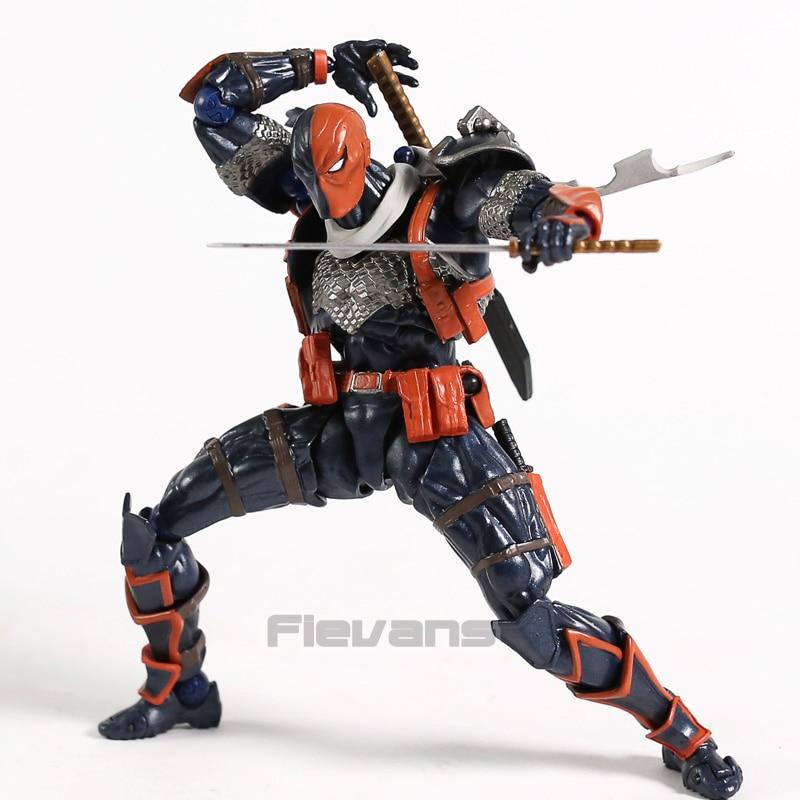 Revoltech NO.011 DC Comics Deathstroke PVC figura de acción de juguete de modelos coleccionables