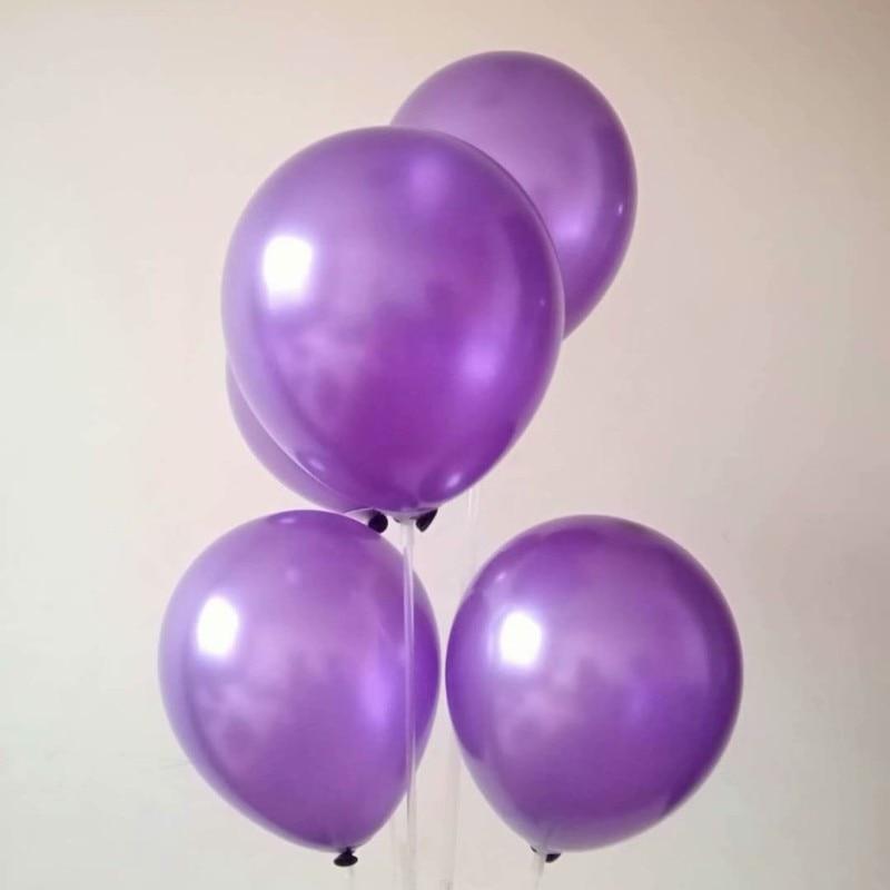 100 piunids/lote 10 pulgadas 1,5g globos redondos de látex púrpura bebé 1 año fiesta de cumpleaños globo decoración boda helio ballon eid mubara