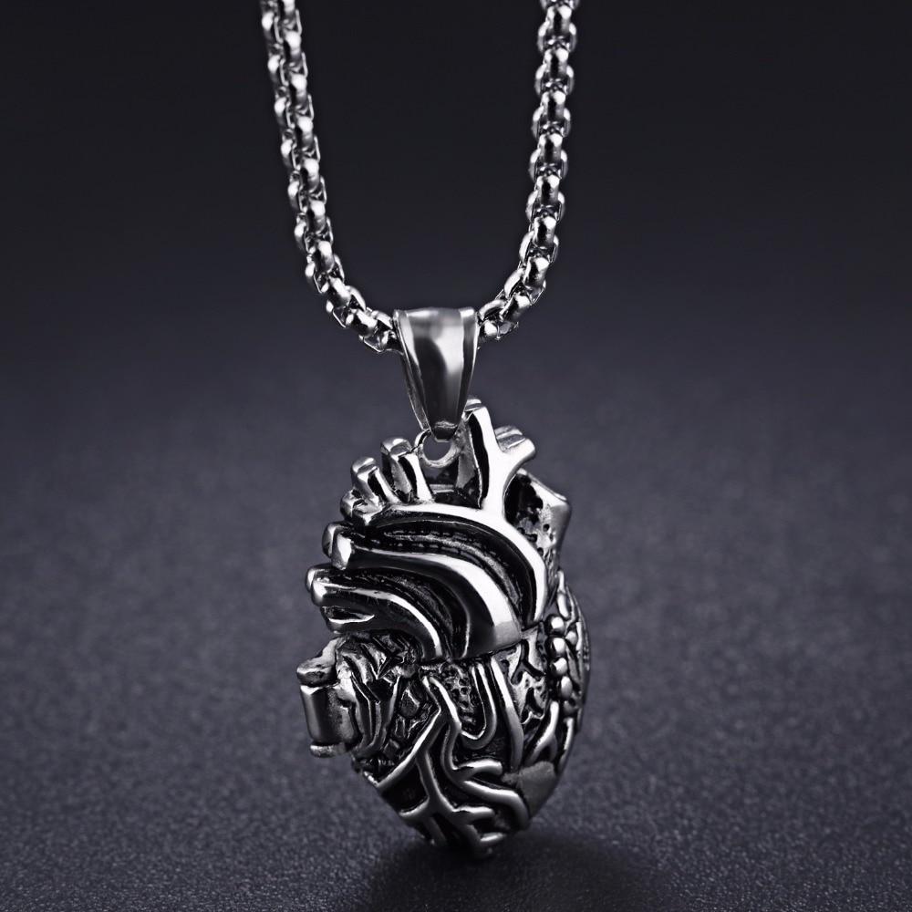 Ожерелье из нержавеющей стали с реалистичным сердечком, ожерелье медсестры или подарок для врача