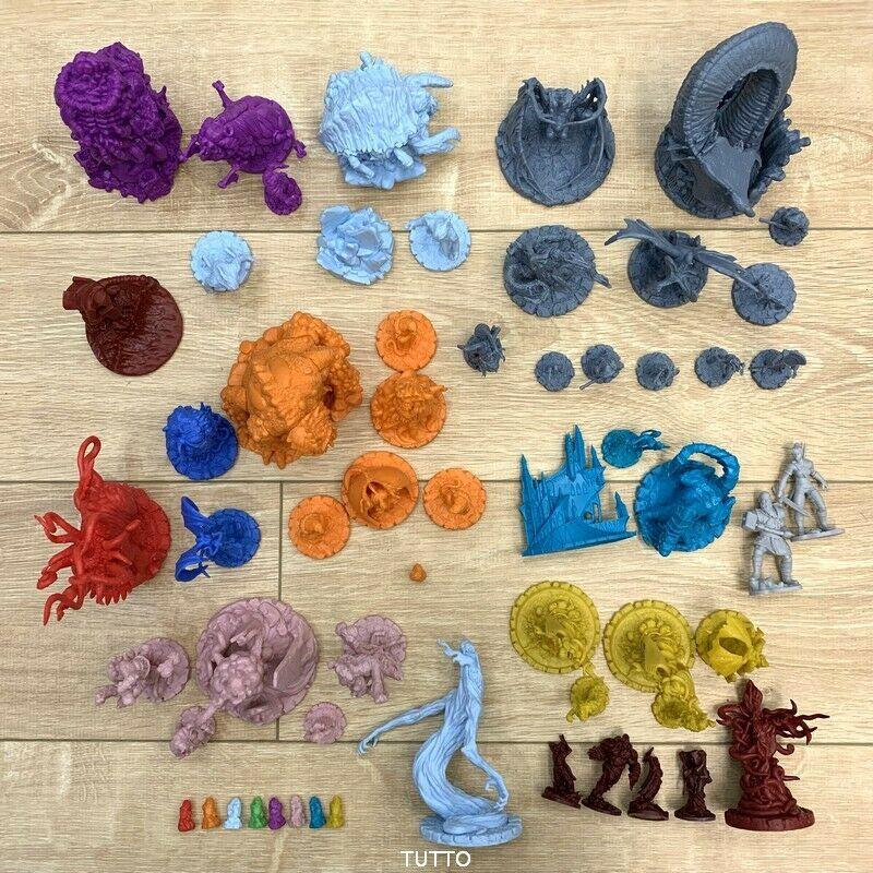 Lot 5 PCS Cthulhu Wars Board Game Miniatures Figures Toys Random -No Repeat