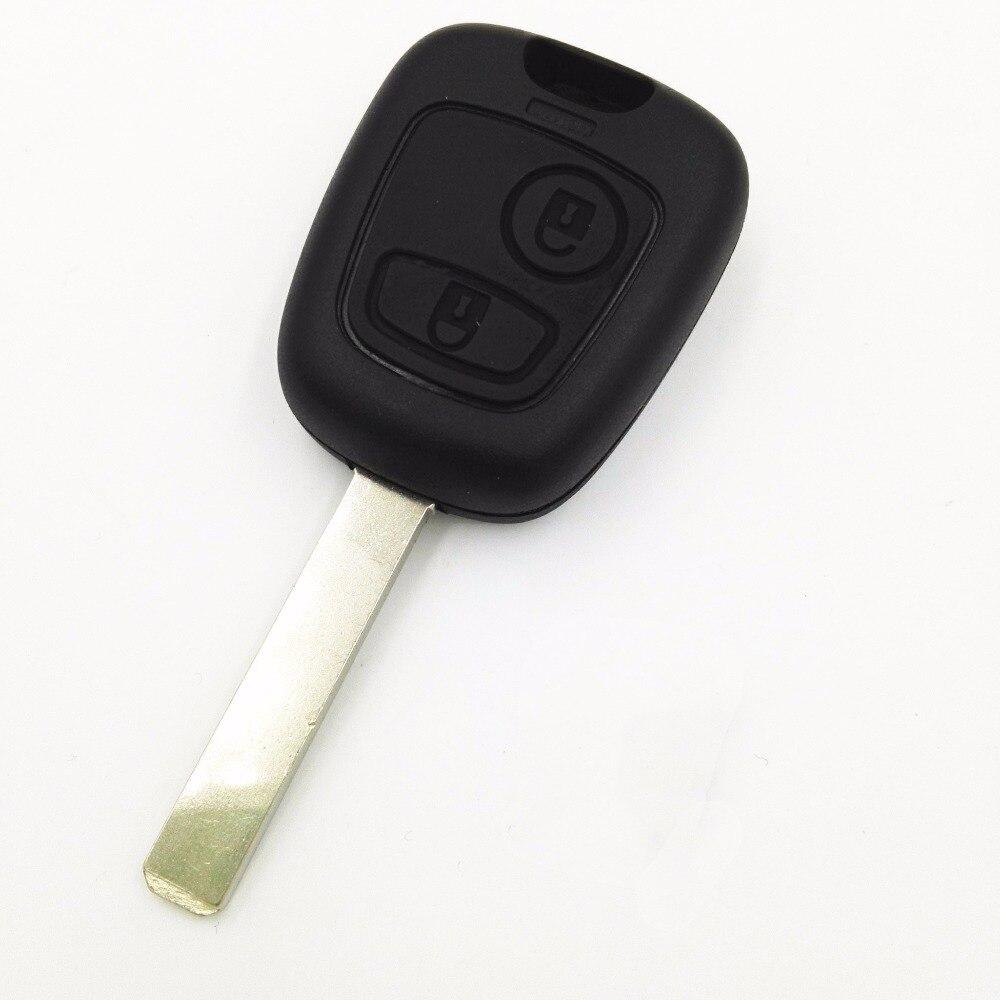Remplacement 2 boutons clé vierge sans rainure   Pour Citroen C1 C2 C3 Pluriel C4 C5 C8 Xsara Picasso coque de clé