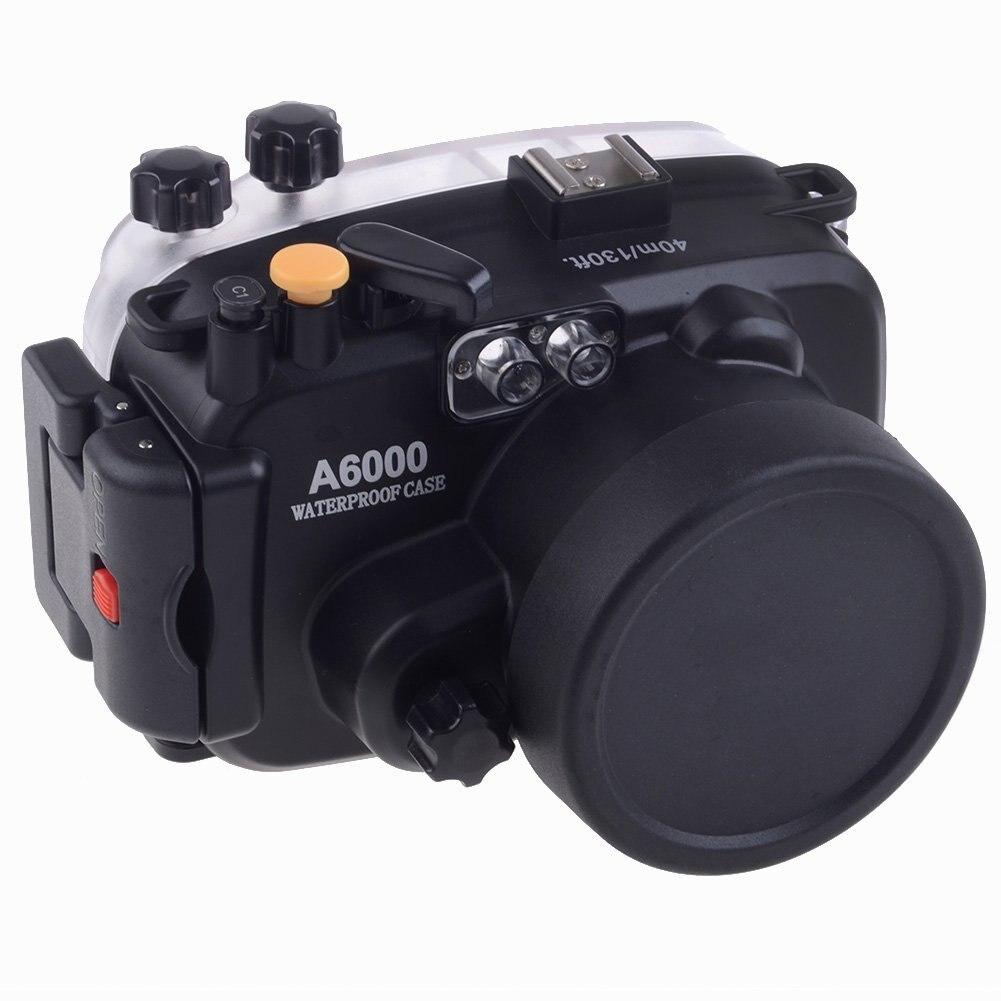 Bolsa para Sony Lente + Alça de Mão + Alça de Braço + O-ring Impermeável Câmera Subaquática Caixa A6000 16-50mm 40 m 130ft