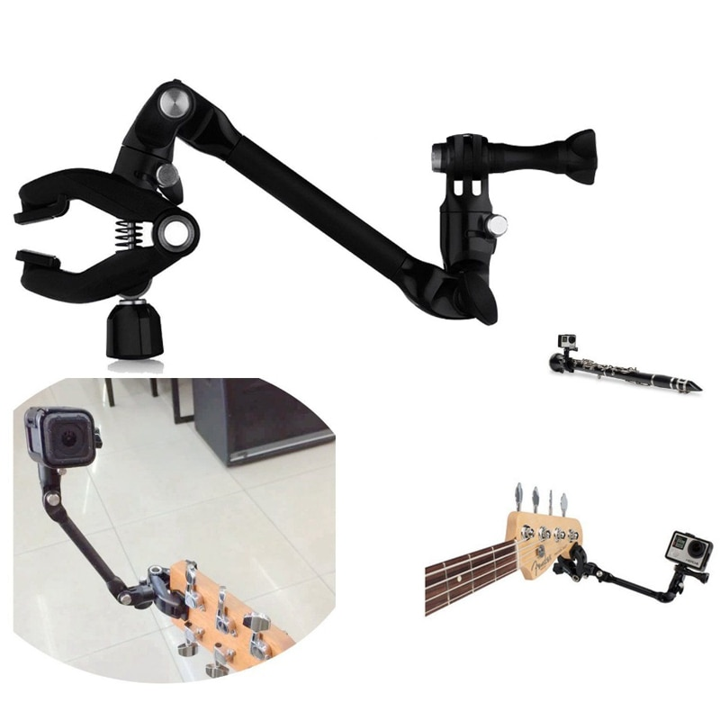 Para GoPro accesorios Jam Cámara ajustable música montaje Clip abrazadera soporte para Gopro Hero/Xiao mi/4 k guitarra tambor instrumento