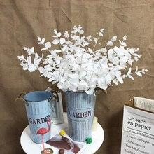 Bouquet dherbe blanche à 16 fourchettes   Feuille deucalyptus blanche, feuille artificielle pour Eucaly bouquet de mariage, 47cm